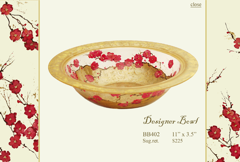 Diana Gaikazova: Plum Blossom Collection :  plum blossom designer bowl home accents