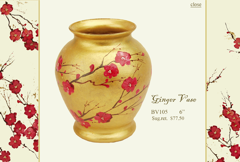 Diana Gaikazova: Plum Blossom Collection :  plum blossom designer urn home accents